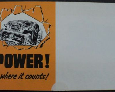 1952 Jeep Willys 4 Wheel Drive Vehicles Brochure Sedan Delivery Station Wagon