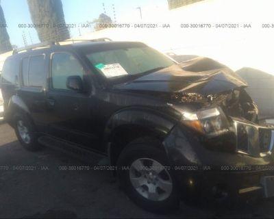 Salvage Black 2006 Nissan Pathfinder
