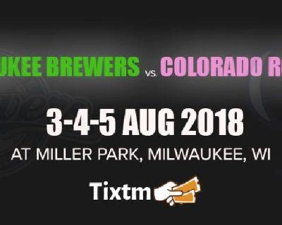 Milwaukee Brewers vs. Colorado Rockies at Milwaukee - Tixtm.com