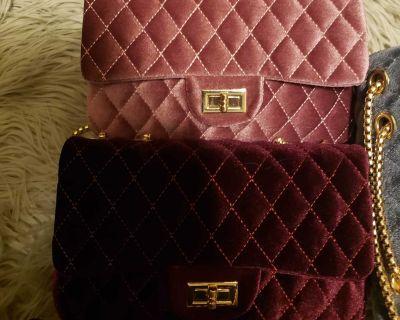 Designer Velvet Crossbody bag
