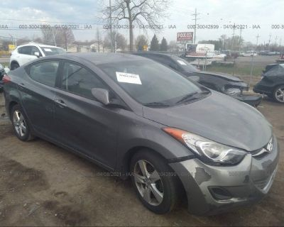 Salvage Gray 2013 Hyundai Elantra
