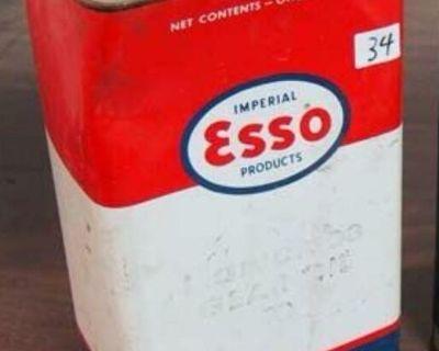 Indian head hydraulic brake fluid/Esso oil cans