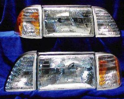 ~ Headlight Set 6 Pcs 87-93 Ford Mustang All 6 Lights ~