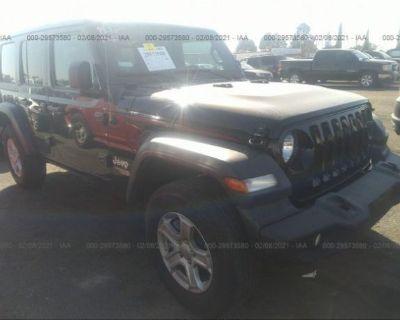 Salvage Black 2019 Jeep Wrangler Unlimited