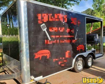 Lark 8' x 16' Barbecue Concession Trailer with Porch / Mobile BBQ Unit