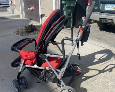 Joovy double sit or stand stroller