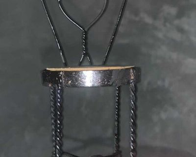 Wrought Iron Ice Cream Parlor Chair Doll Size