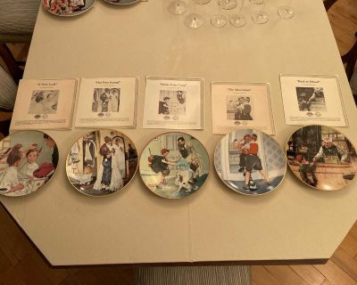 Norman Rockwell collector plates (5) Coming of Age