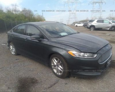 Salvage Gray 2015 Ford Fusion