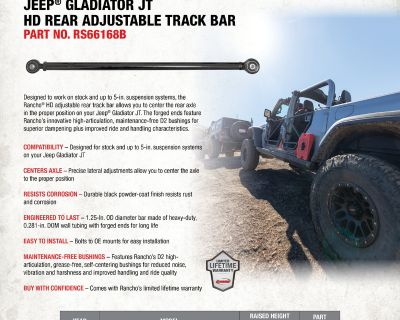 New! Rear track bar for your Gladiator from Rancho