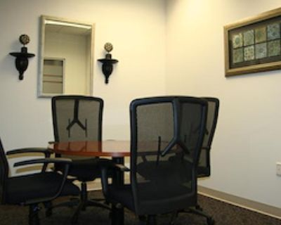 Private Meeting Room for 4 at Office Space & Solutions Virginia Beach