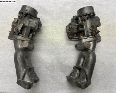 Porsche 356 356A Super 40PICB Carburetors