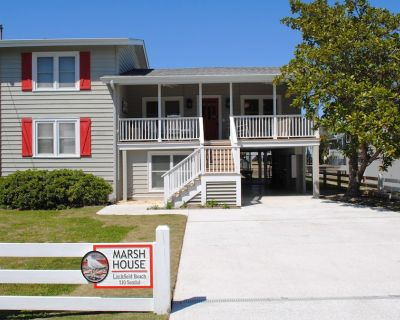 Canal front home with floating and stationary dock located at South Litchfield. - Pawleys Island