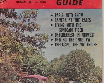 2/1965 Foreign Car Guide many VW articles
