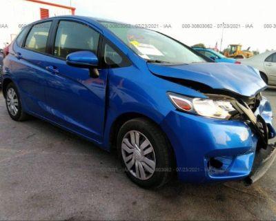 Salvage Blue 2016 Honda Fit