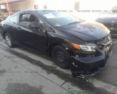 Salvage Black 2012 Honda Civic Cpe