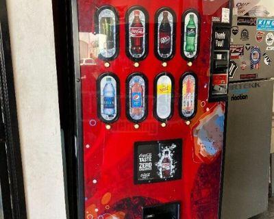 Royal Vendors Soda Vending Machine with Coke Front