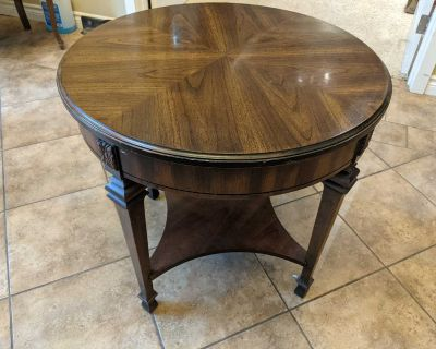 Walnut solid wood end table