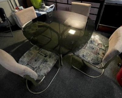 *Final Reduction* Black Glass Table-only