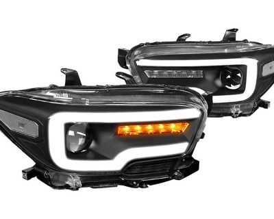 All-New LED DRL Bar Projector Headlights for Tacoma by Lumen