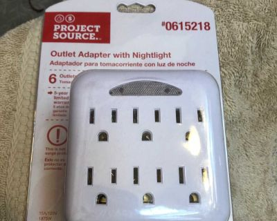 New outlet adapter with nightlight six outlets