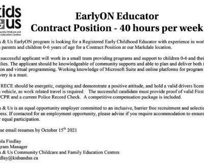 Kids & US EarlyON Educ...