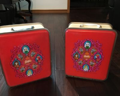 ANTIQUE HARD SHELL BARBIE CASES FROM 1960'S