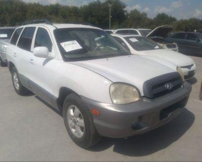 Salvage White 2005 Hyundai Santa Fe