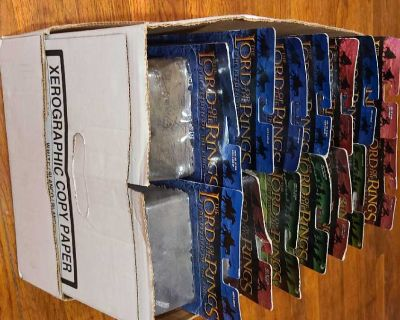 Box of Lord of the Rings 14 action figures NIB