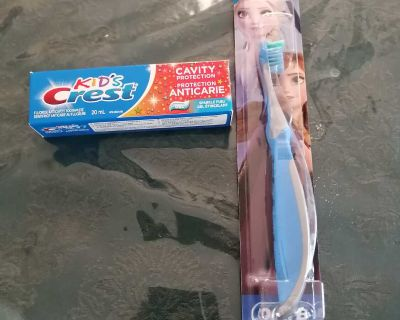 Kids Tooth Brush and Tooth Paste - Brand New