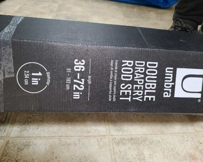 Brand new never used double rod set