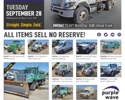 September 28 City of Kansas City MO auction