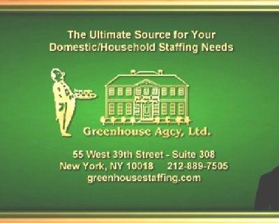 Housekeeper Manhattan, Live-Out 75K+ (DOE) 40hr Week!!
