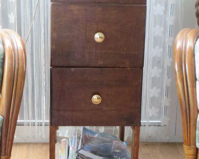 """2 drawer wood side table / magazine stand 12 """"W x 19""""D x 29 """"H"""