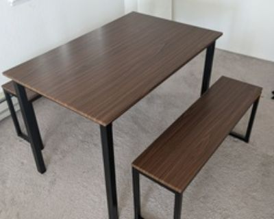 HOMURY Dining Room Table Set, Modern Studio Kitchen Table Set with Two