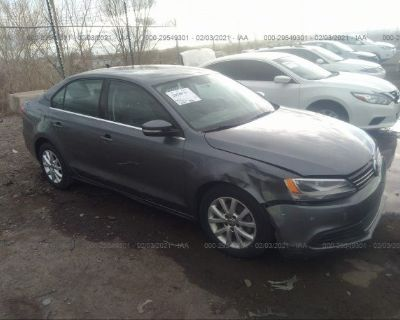 Salvage Gray 2013 Volkswagen Jetta Sedan