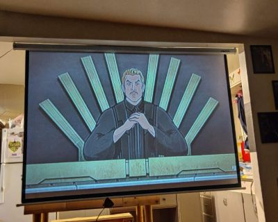 """Leadzm Motorized Projector Screen with remote 84"""""""