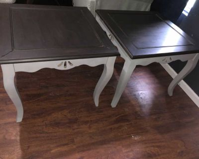 Large End Tables - grey & brown OBO