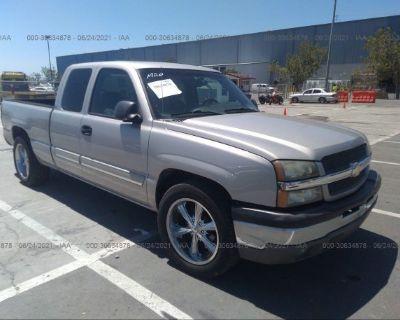 Salvage Silver 2004 Chevrolet Silverado 1500