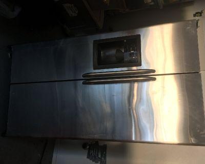 GE Refrigerator - Chrome finish