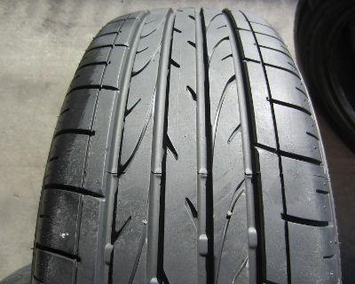 4 Used Bmw Tires 205/55/17 , 205/55r17 Bridgestone Dueler Hp Rft Run Flat