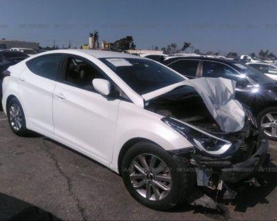 Salvage White 2014 Hyundai Elantra