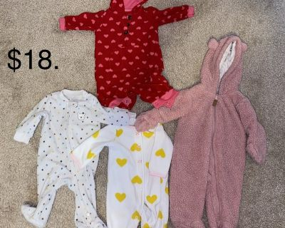 B/O 3M Baby Girl Clothes, Snuggles One Piece