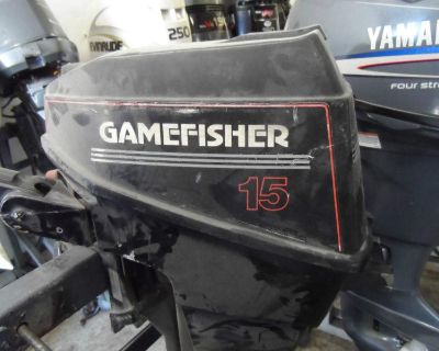 90's 15hp 15 Hp Gamefisher Outboard Motor