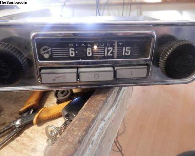 working 67/68 blaupunkt am 6 volt/12 volt radio