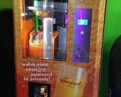 NEW 2012 OranFresh Orange Juice Vending Machines