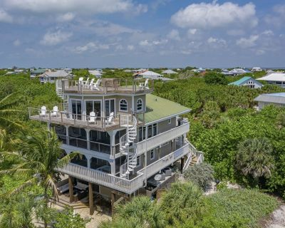 Luxury House just 50 Yds from beach! Pool, spa, kayaks, bikes & ext games area! - North Captiva