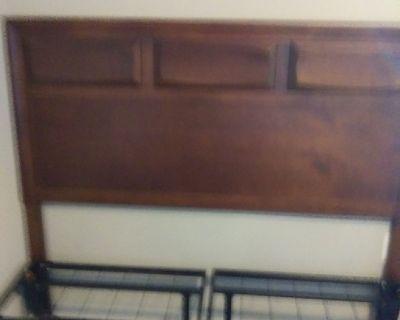 Queen wooden headboard and frame