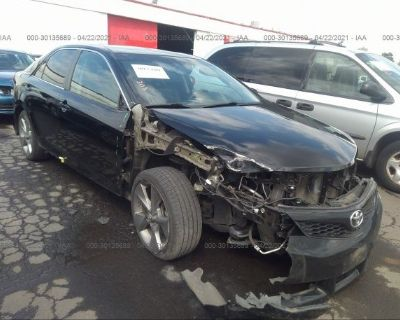 Salvage Black 2012 Toyota Camry
