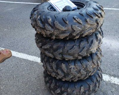Brand new maxxis ATV tires and rims (20km on them)